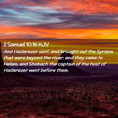 Picture 02 - 2 Samuel 10:16 KJV - And Hadarezer sent, and brought out the Syrians - Bible Verse Picture