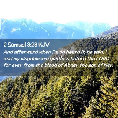 Picture 02 - 2 Samuel 3:28 KJV - And afterward when David heard it, he said, I and - Bible Verse Picture