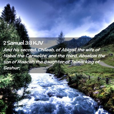 Picture 02 - 2 Samuel 3:3 KJV - And his second, Chileab, of Abigail the wife of - Bible Verse Picture