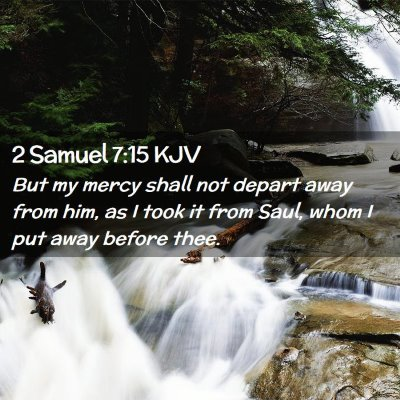 Picture 02 - 2 Samuel 7:15 KJV - But my mercy shall not depart away from him, as I - Bible Verse Picture