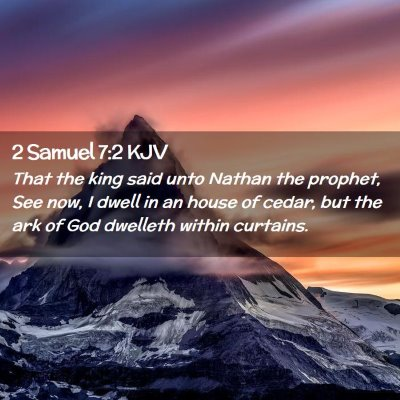 Picture 02 - 2 Samuel 7:2 KJV - That the king said unto Nathan the prophet, See - Bible Verse Picture
