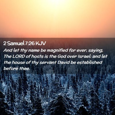 Picture 02 - 2 Samuel 7:26 KJV - And let thy name be magnified for ever, saying, - Bible Verse Picture