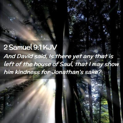 Picture 02 - 2 Samuel 9:1 KJV - And David said, Is there yet any that is left of - Bible Verse Picture