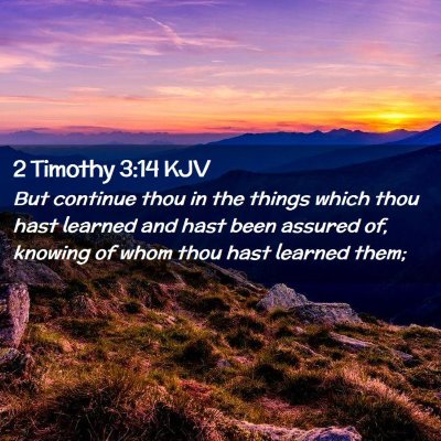 Picture 02 - 2 Timothy 3:14 KJV - But continue thou in the things which thou hast - Bible Verse Picture