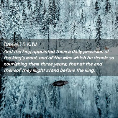 Picture 02 - Daniel 1:5 KJV - And the king appointed them a daily provision of - Bible Verse Picture