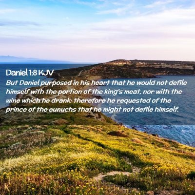 Picture 02 - Daniel 1:8 KJV - But Daniel purposed in his heart that he would - Bible Verse Picture