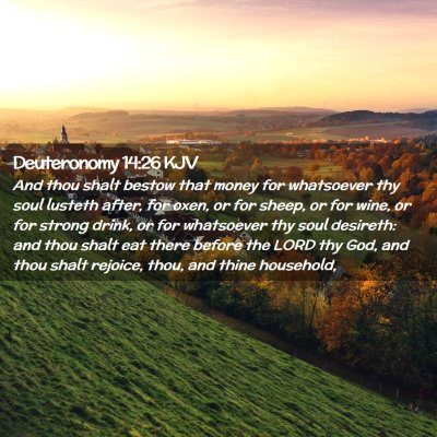 Picture 02 - Deuteronomy 14:26 KJV - And thou shalt bestow that money for whatsoever - Bible Verse Picture