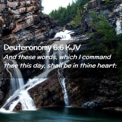 Picture 02 - Deuteronomy 6:6 KJV - And these words, which I command thee this day, - Bible Verse Picture