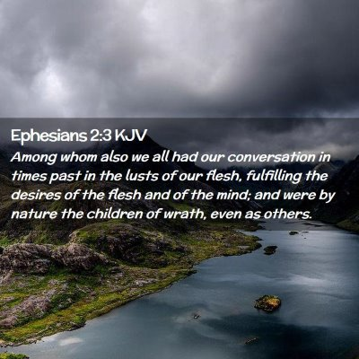 Picture 02 - Ephesians 2:3 KJV - Among whom also we all had our conversation in - Bible Verse Picture