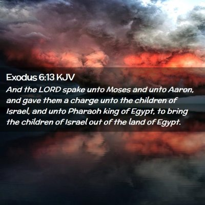 Picture 02 - Exodus 6:13 KJV - And the LORD spake unto Moses and unto Aaron, and - Bible Verse Picture