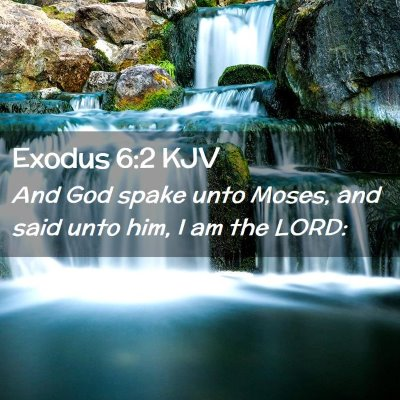 Picture 02 - Exodus 6:2 KJV - And God spake unto Moses, and said unto him, I am - Bible Verse Picture