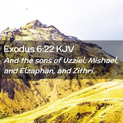 Picture 02 - Exodus 6:22 KJV - And the sons of Uzziel; Mishael, and Elzaphan, - Bible Verse Picture