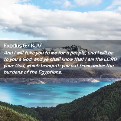 Picture 02 - Exodus 6:7 KJV - And I will take you to me for a people, and I - Bible Verse Picture