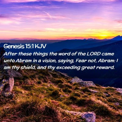 Picture 02 - Genesis 15:1 KJV - After these things the word of the LORD came unto - Bible Verse Picture