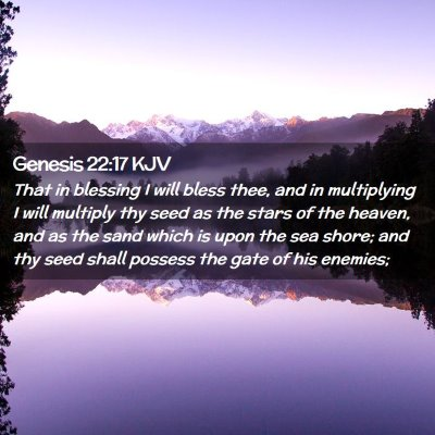 Picture 02 - Genesis 22:17 KJV - That in blessing I will bless thee, and in - Bible Verse Picture