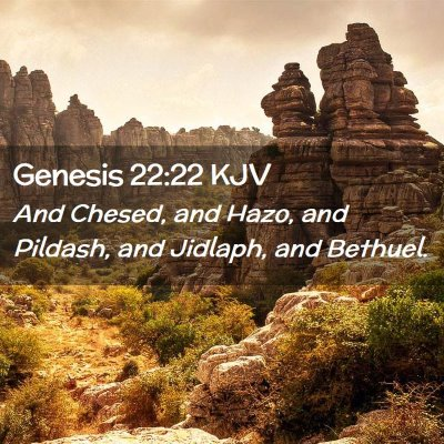 Picture 02 - Genesis 22:22 KJV - And Chesed, and Hazo, and Pildash, and Jidlaph, - Bible Verse Picture