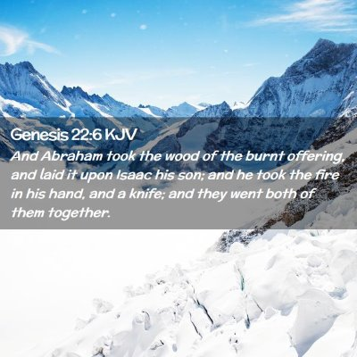 Picture 02 - Genesis 22:6 KJV - And Abraham took the wood of the burnt offering, - Bible Verse Picture
