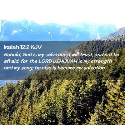 Picture 02 - Isaiah 12:2 KJV - Behold, God is my salvation; I will trust, and - Bible Verse Picture