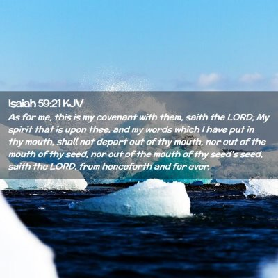 Picture 02 - Isaiah 59:21 KJV - As for me, this is my covenant with them, saith - Bible Verse Picture