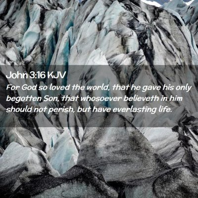 Picture 02 - John 3:16 KJV - For God so loved the world, that he gave his only - Bible Verse Picture