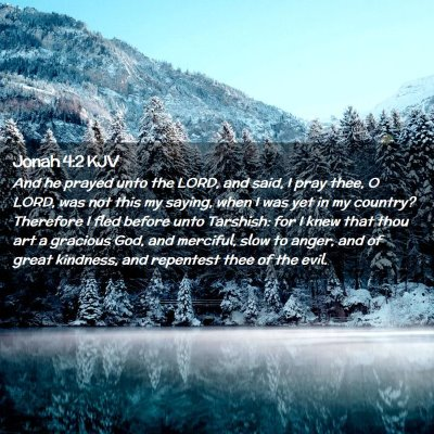 Picture 02 - Jonah 4:2 KJV - And he prayed unto the LORD, and said, I pray - Bible Verse Picture