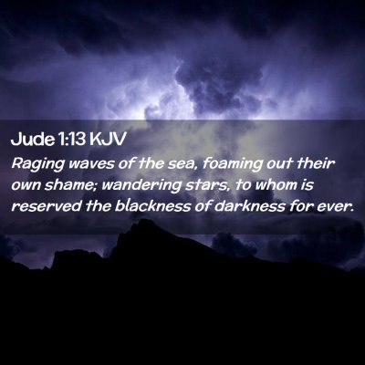 Picture 02 - Jude 1:13 KJV - Raging waves of the sea, foaming out their own - Bible Verse Picture