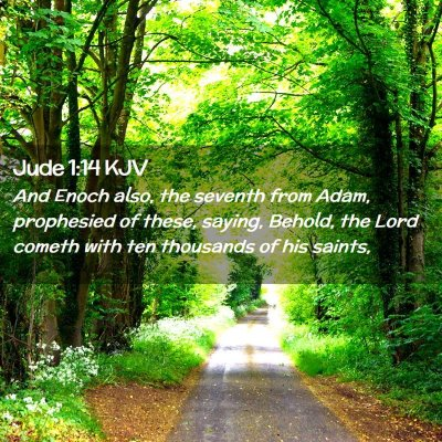Picture 02 - Jude 1:14 KJV - And Enoch also, the seventh from Adam, prophesied - Bible Verse Picture