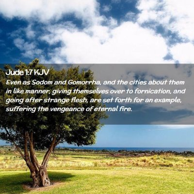 Picture 02 - Jude 1:7 KJV - Even as Sodom and Gomorrha, and the cities about - Bible Verse Picture