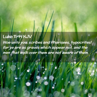Picture 02 - Luke 11:44 KJV - Woe unto you, scribes and Pharisees, hypocrites! - Bible Verse Picture