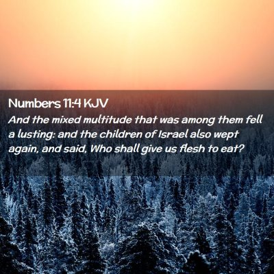 Picture 02 - Numbers 11:4 KJV - And the mixed multitude that was among them fell - Bible Verse Picture