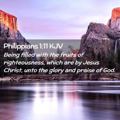 Picture 02 - Philippians 1:11 KJV - Being filled with the fruits of righteousness, - Bible Verse Picture