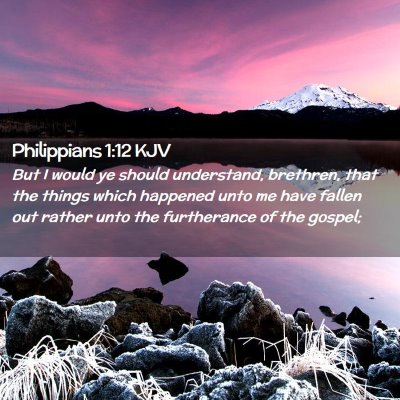 Picture 02 - Philippians 1:12 KJV - But I would ye should understand, brethren, that - Bible Verse Picture