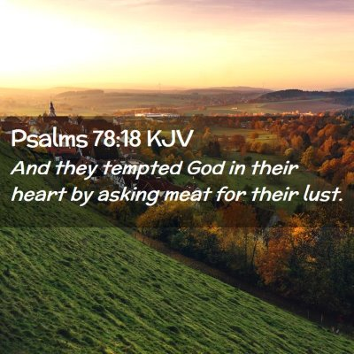 Picture 02 - Psalms 78:18 KJV - And they tempted God in their heart by asking - Bible Verse Picture