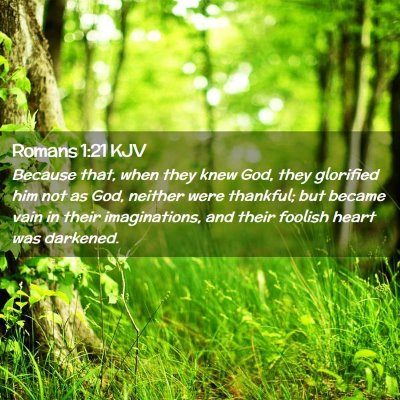 Picture 02 - Romans 1:21 KJV - Because that, when they knew God, they glorified - Bible Verse Picture