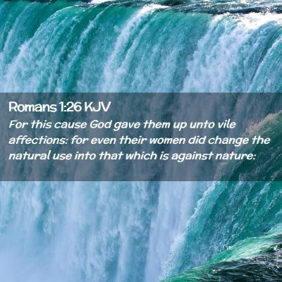Picture 02 - Romans 1:26 KJV - For this cause God gave them up unto vile - Bible Verse Picture