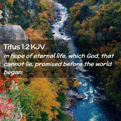 Picture 02 - Titus 1:2 KJV - In hope of eternal life, which God, that cannot - Bible Verse Picture