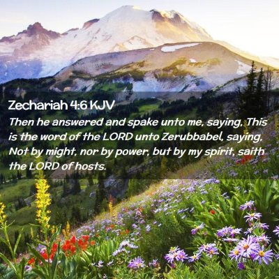 Picture 02 - Zechariah 4:6 KJV - Then he answered and spake unto me, saying, This - Bible Verse Picture
