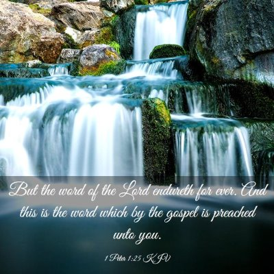 Picture 03 - 1 Peter 1:25 KJV - But the word of the Lord endureth for ever. And - Bible Verse Picture