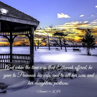 Picture 03 - 1 Samuel 1:4 KJV - And when the time was that Elkanah offered, he - Bible Verse Picture