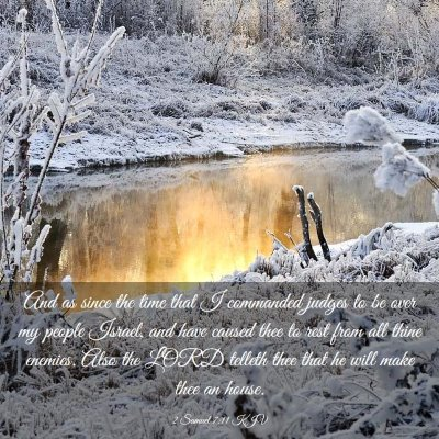 Picture 03 - 2 Samuel 7:11 KJV - And as since the time that I commanded judges to - Bible Verse Picture