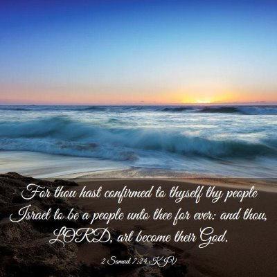 Picture 03 - 2 Samuel 7:24 KJV - For thou hast confirmed to thyself thy people - Bible Verse Picture