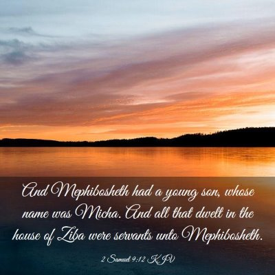 Picture 03 - 2 Samuel 9:12 KJV - And Mephibosheth had a young son, whose name was - Bible Verse Picture