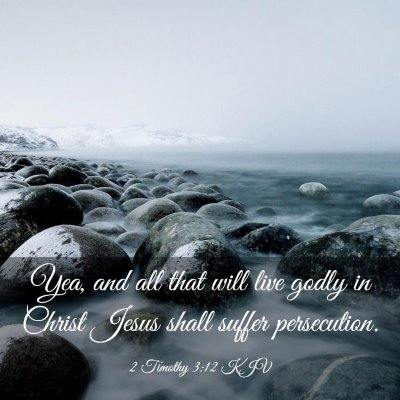 Picture 03 - 2 Timothy 3:12 KJV - Yea, and all that will live godly in Christ Jesus - Bible Verse Picture