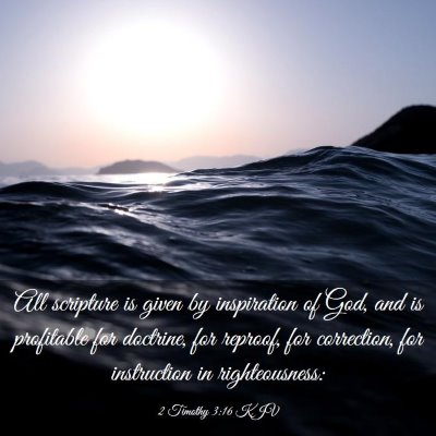 Picture 03 - 2 Timothy 3:16 KJV - All scripture is given by inspiration of God, and - Bible Verse Picture