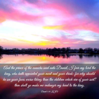 Picture 03 - Daniel 1:10 KJV - And the prince of the eunuchs said unto Daniel, I - Bible Verse Picture