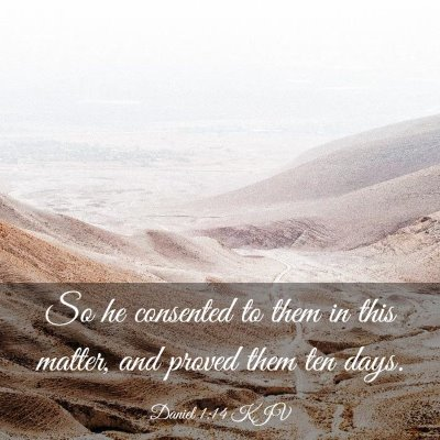 Picture 03 - Daniel 1:14 KJV - So he consented to them in this matter, and - Bible Verse Picture