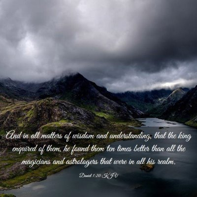 Picture 03 - Daniel 1:20 KJV - And in all matters of wisdom and understanding, - Bible Verse Picture