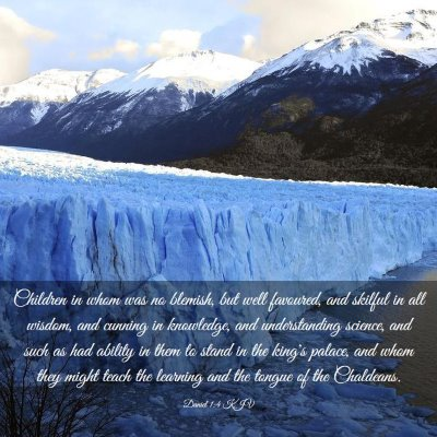 Picture 03 - Daniel 1:4 KJV - Children in whom was no blemish, but well - Bible Verse Picture