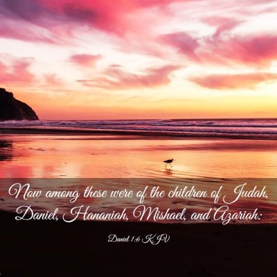 Picture 03 - Daniel 1:6 KJV - Now among these were of the children of Judah, - Bible Verse Picture