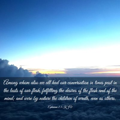 Picture 03 - Ephesians 2:3 KJV - Among whom also we all had our conversation in - Bible Verse Picture